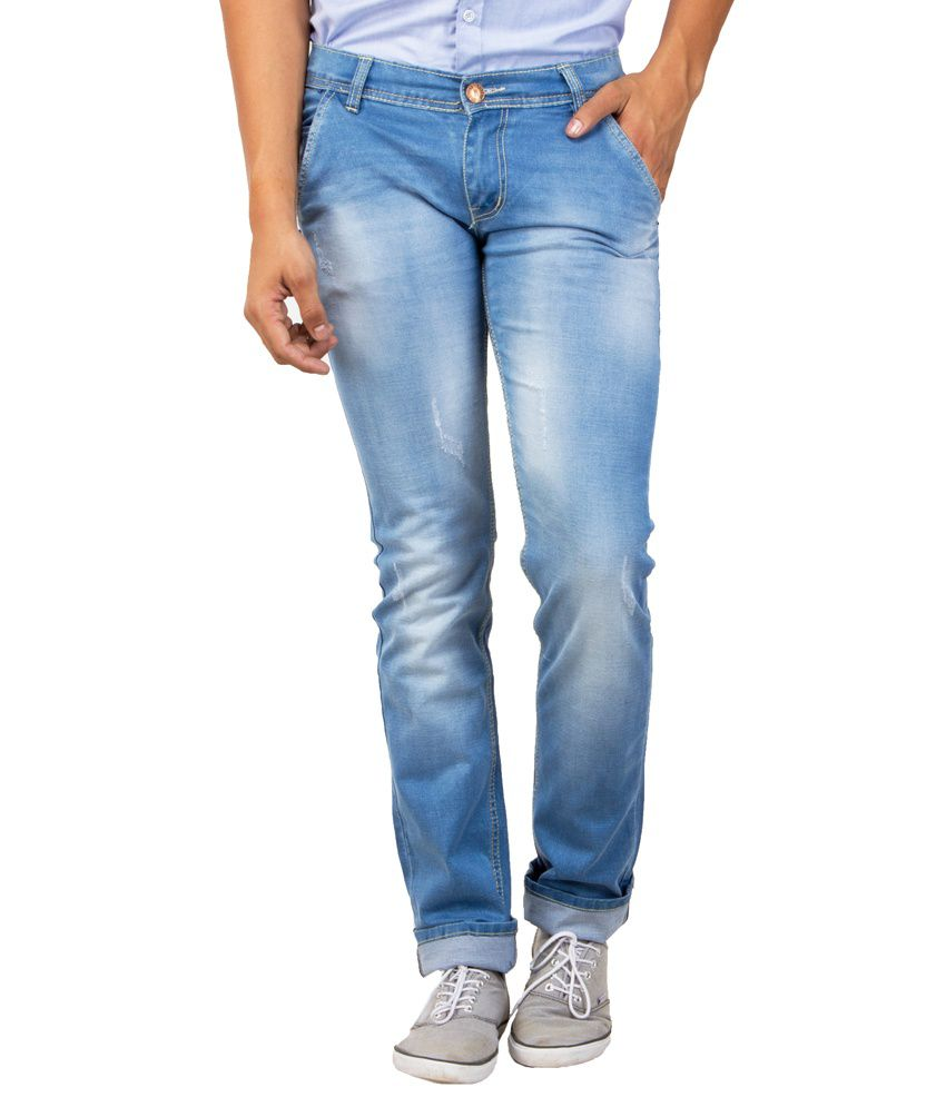 Option Blue Denim Lycra Jeans