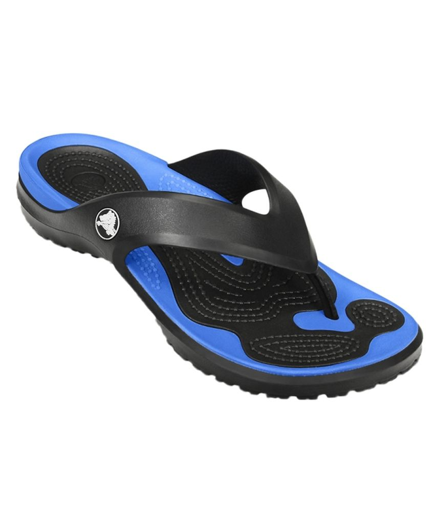 Crocs Navy Slippers & Flip Flops Relaxed Fit