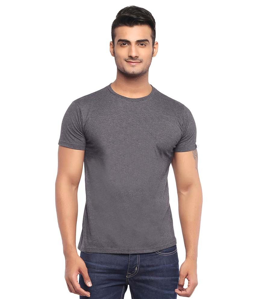 London Police Grey Cotton T-Shirt