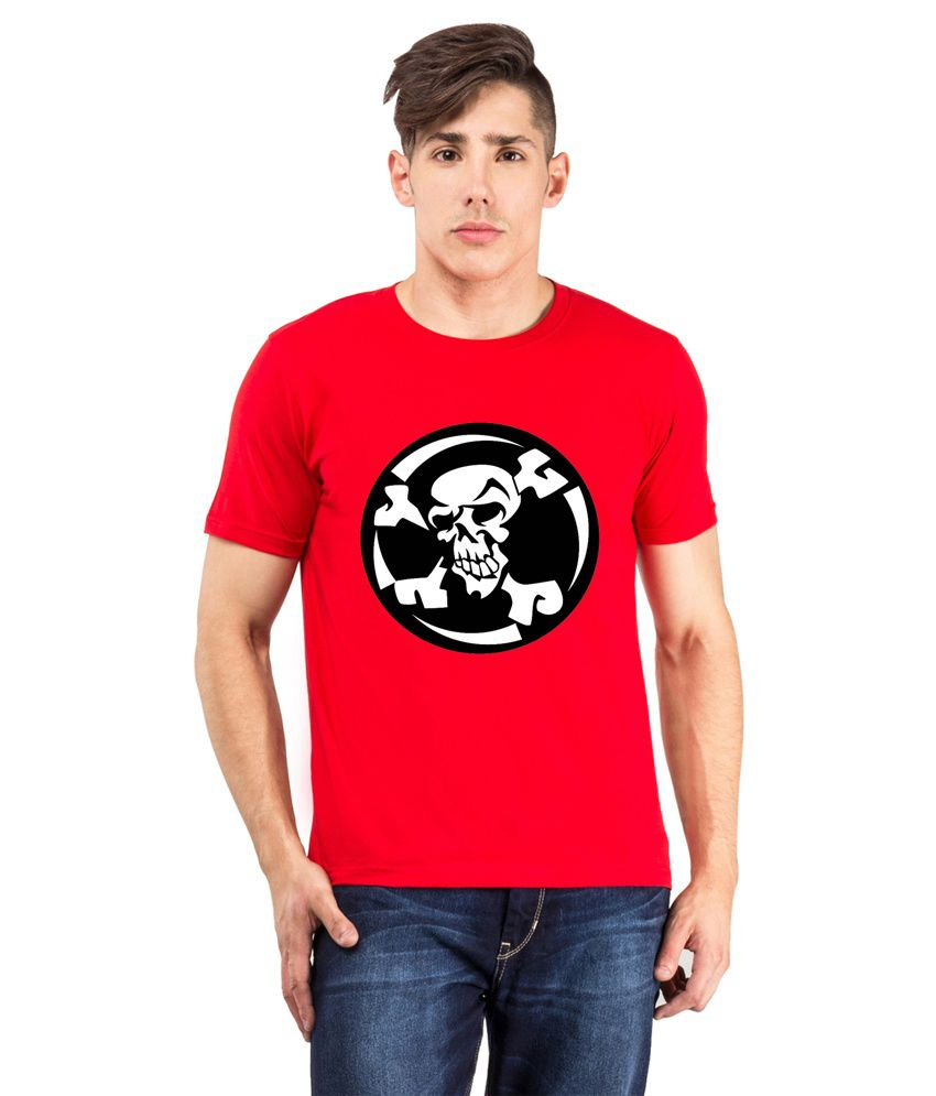The Odd Toe Red Cotton Half Sleeves T-Shirt