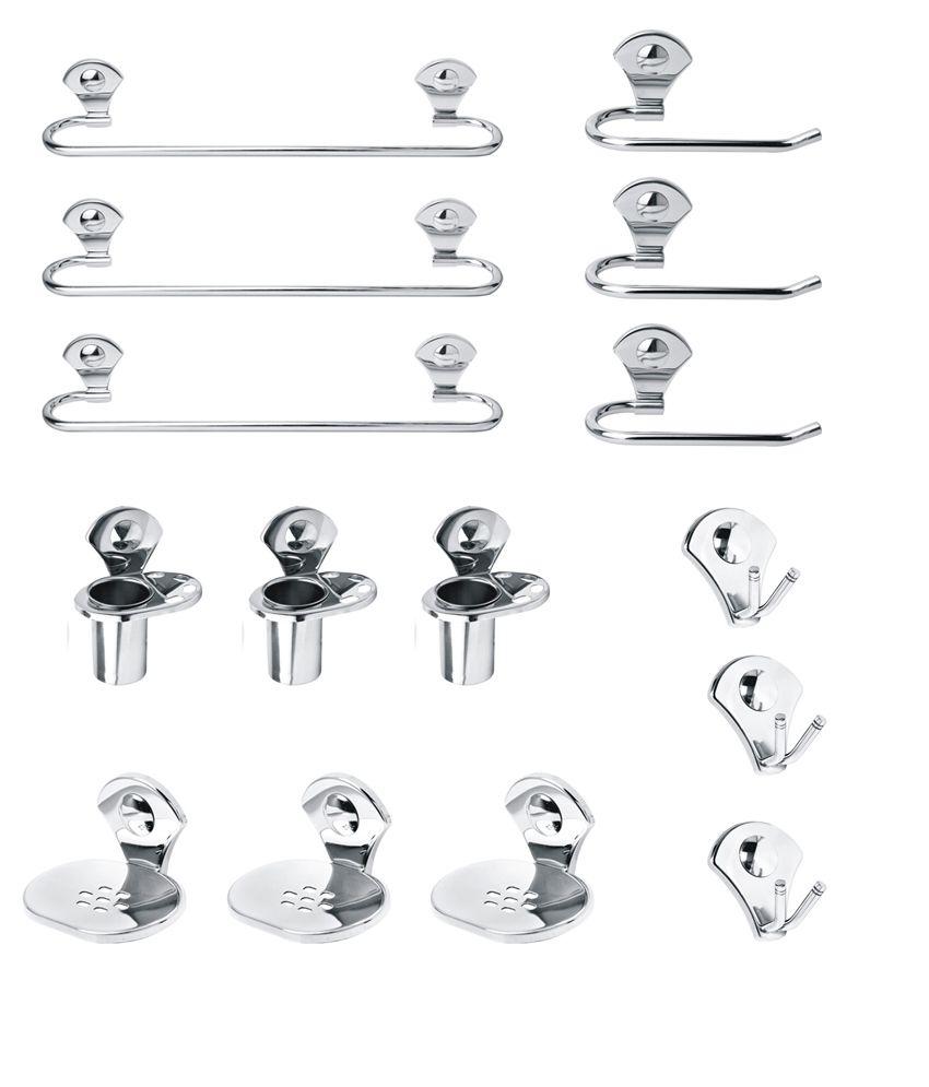 Buy handy stainless steel full bath set pack of 3 online for Full bath set
