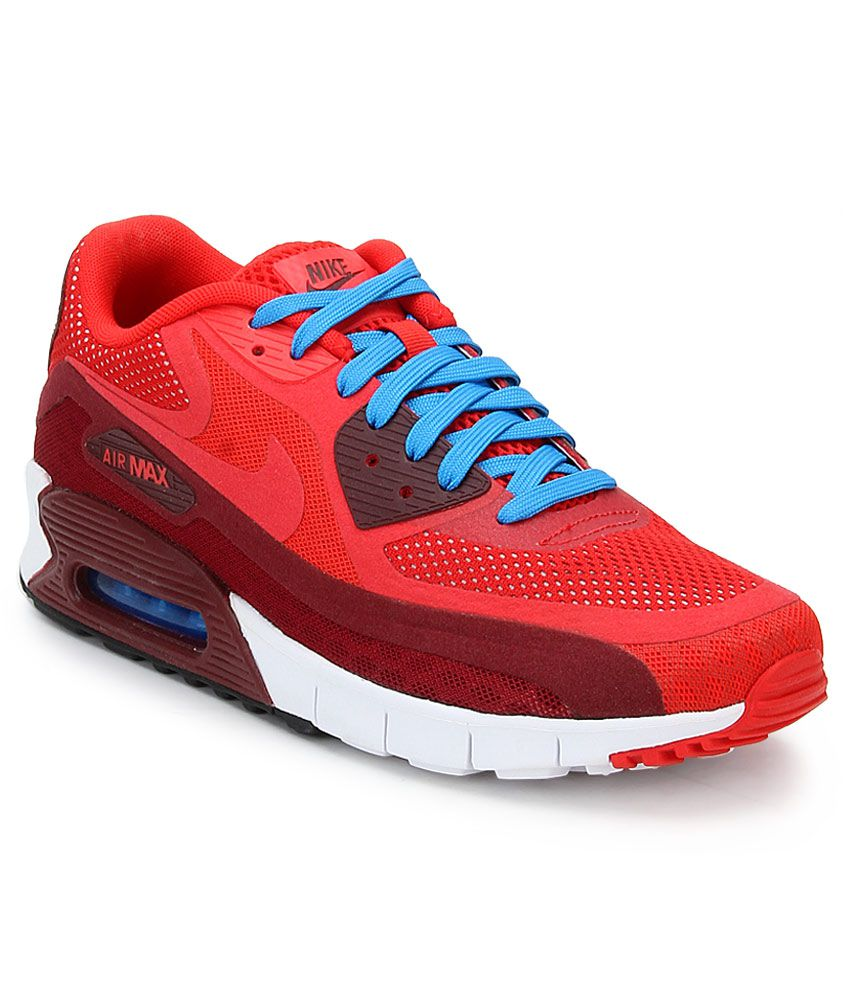official photos 62883 54c08 Nike Air Max 90 Red Sports Shoes - Buy Nike Air Max 90 Red Sports Shoes  Online at Best Prices in India on Snapdeal