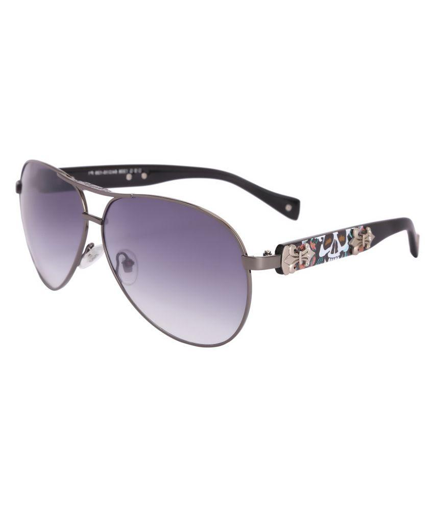 Camerii Blue Rectangle Sunglasses
