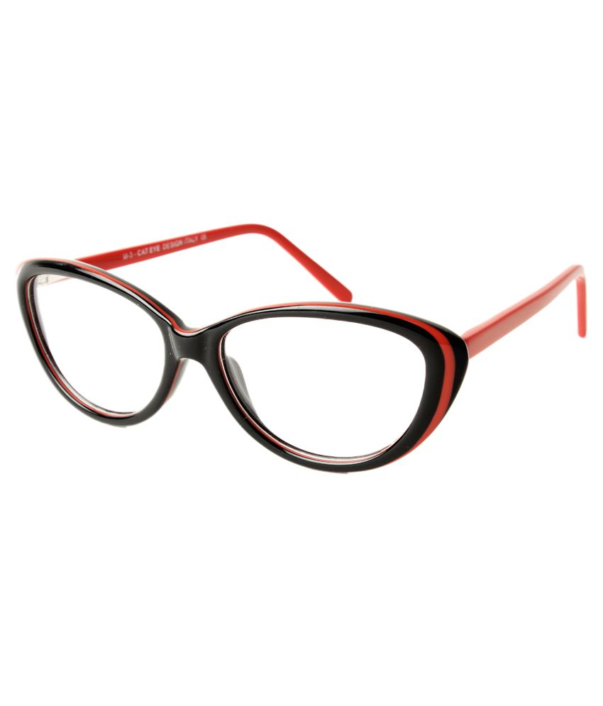 Ecz Red & Black Rectangle Eyeglasses - Buy Ecz Red & Black Rectangle  Eyeglasses Online at Low Price - Snapdeal