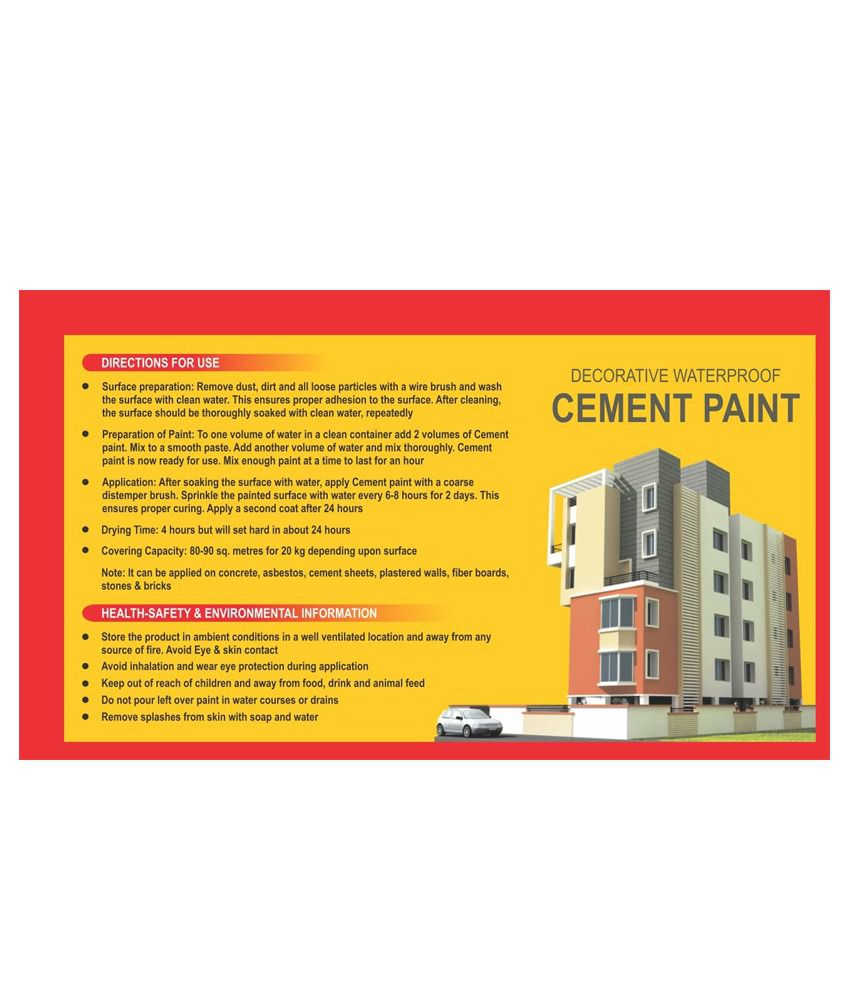 Buy Maya Art Linkers Yellow Cement Paint Shade Cards - 500