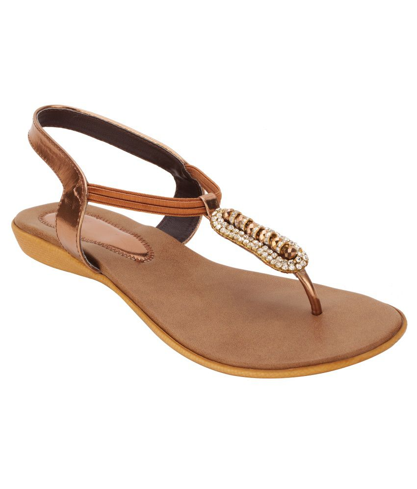 Royal Collection Brown Flat Sandals