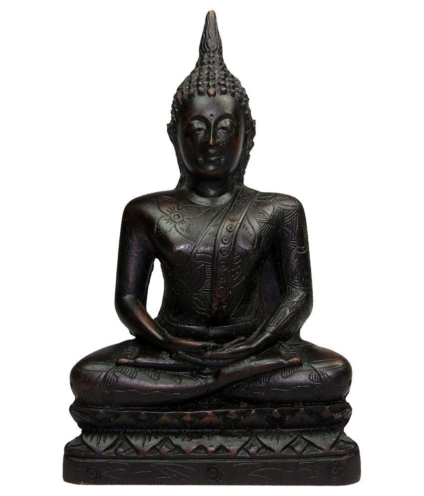Shop Gyarah Black Handcrafted Meditative Thai Buddha Idol