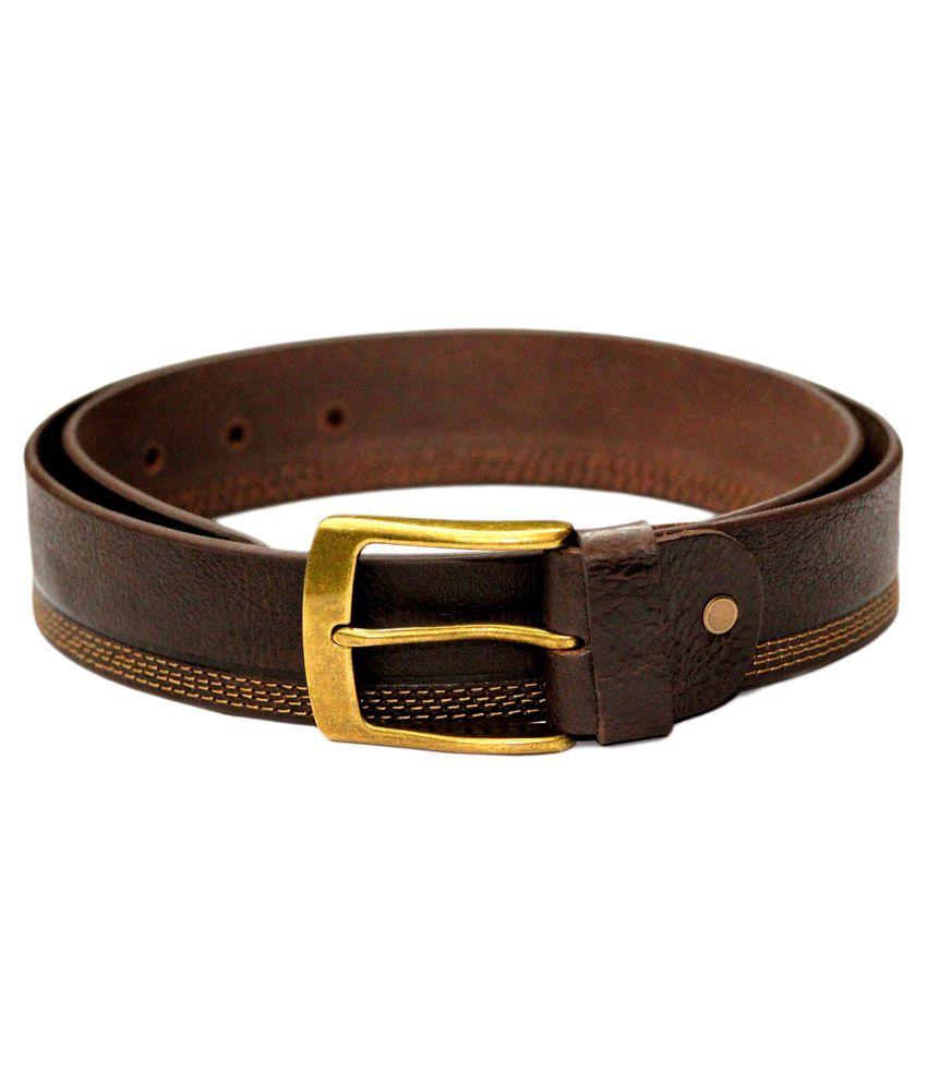 Tops Brown Leather Formal Belt