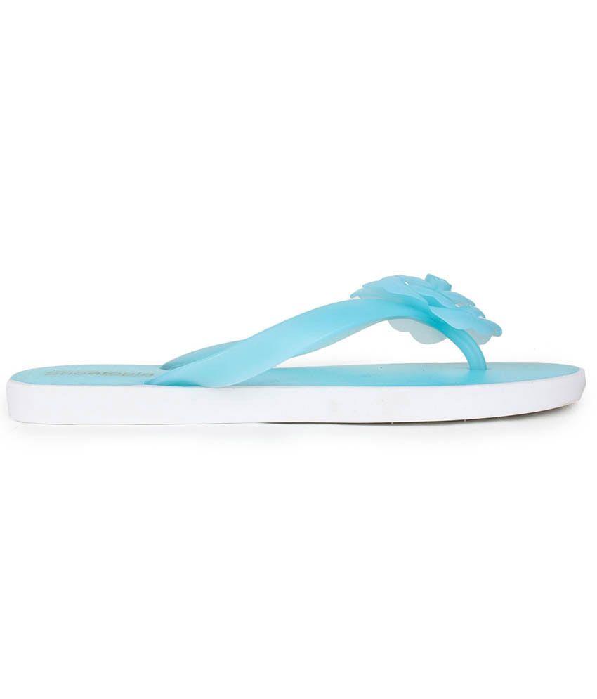 cd042b43b Do Bhai Blue Flat Slip-on Price in India- Buy Do Bhai Blue Flat Slip ...