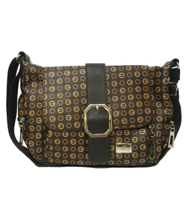 Craveforit Brown Satchel Bag