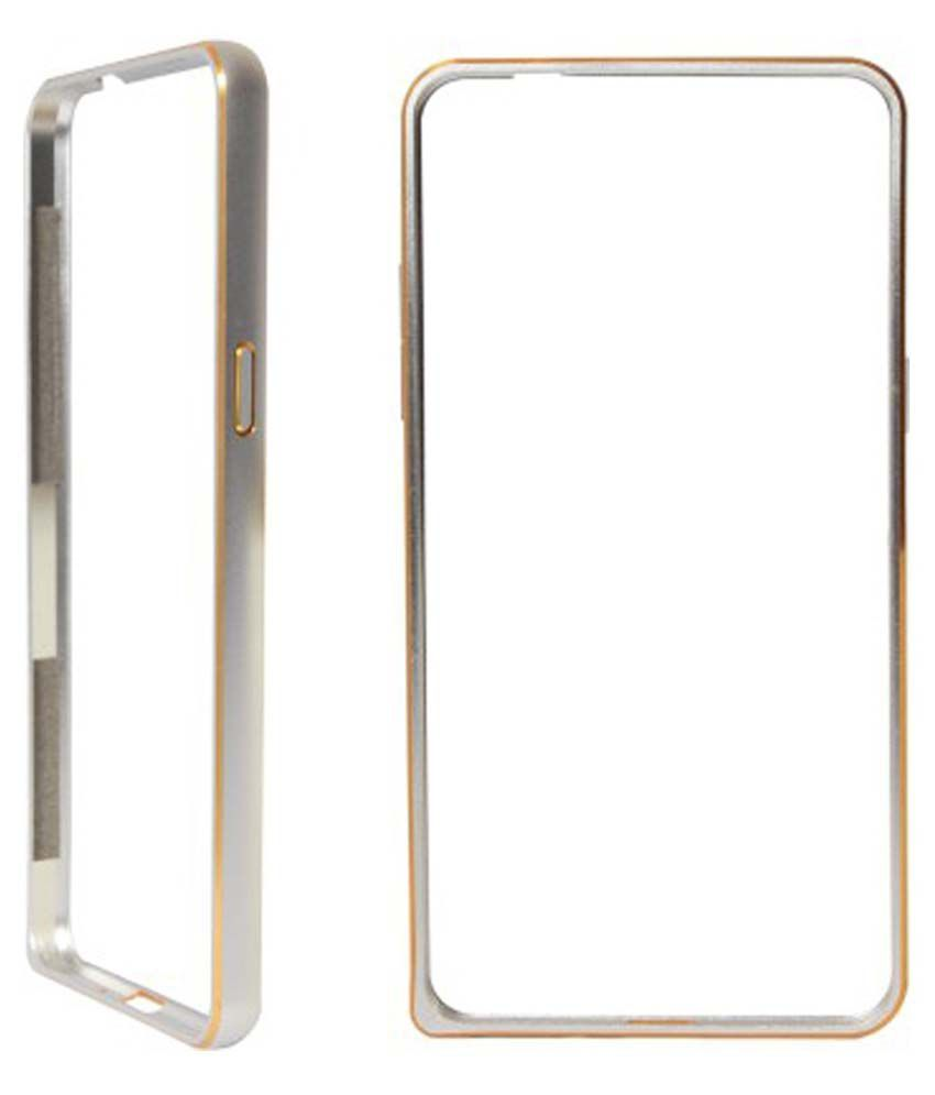 size 40 1e380 f5a73 Stapna Hard Shell Bumper Case For Lenovo A6000 Plus - Silver - Plain ...