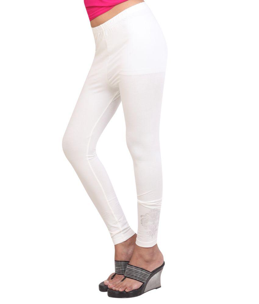 cda3d16b9d353 CityLife White Cotton Leggings Price in India - Buy CityLife White ...
