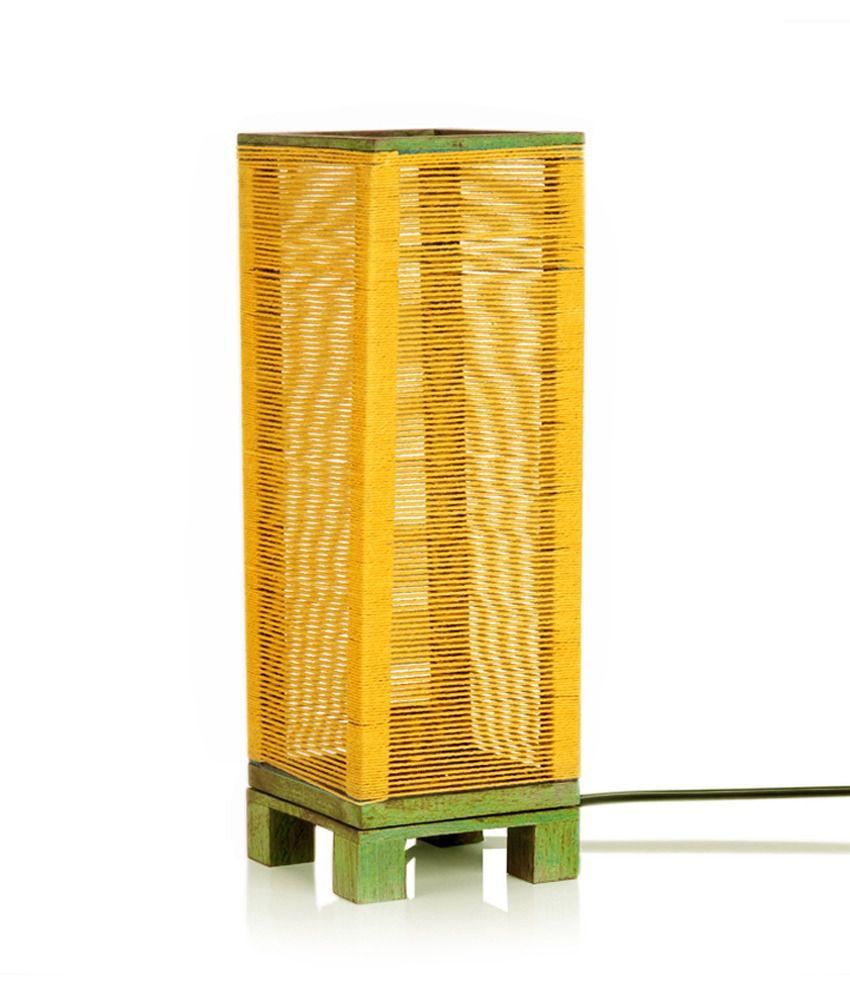 Exclusive Lane White Wooden Night Lamp - 40W