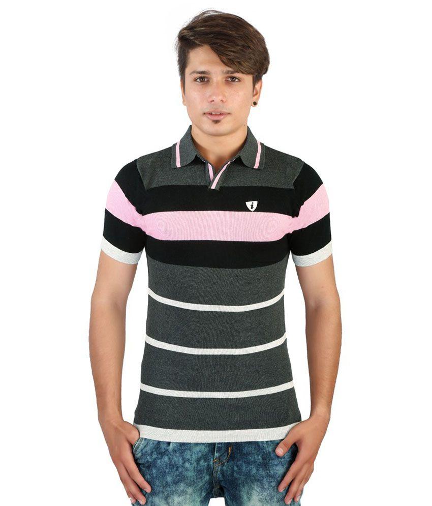 Igs Black Cotton T-Shirt