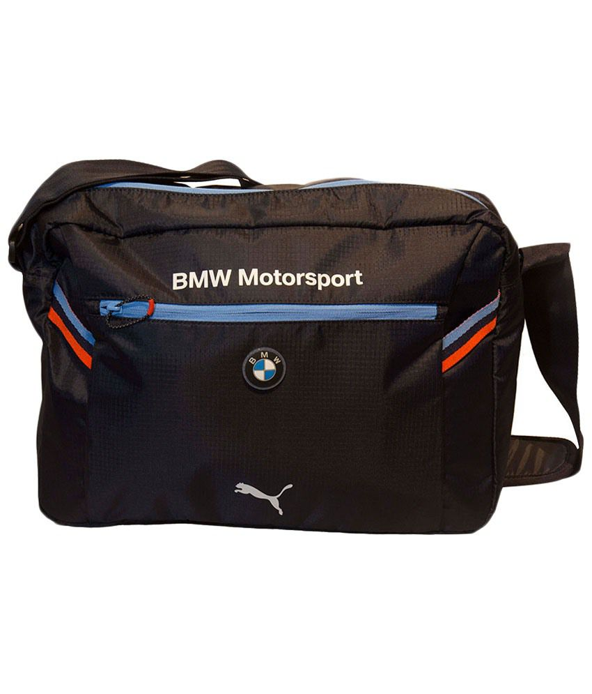 Puma Black & Blue BMW Motorsport Messenger Bag - Buy Puma ...