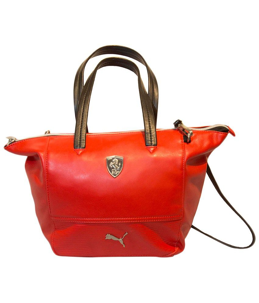 1701eefabfd Puma Red & Black Ferrari PU Satchel Bag - Buy Puma Red & Black Ferrari PU  Satchel Bag Online at Best Prices in India on Snapdeal