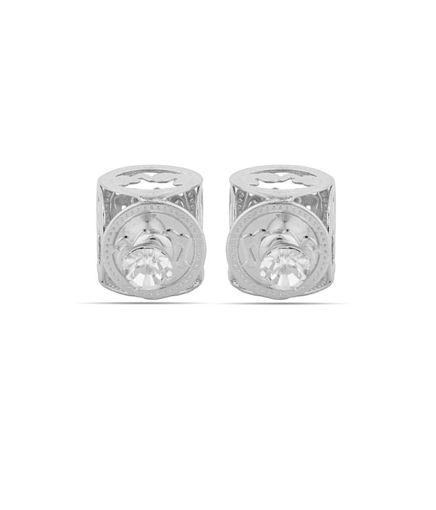 Voylla Silver Alloy Stud earrings