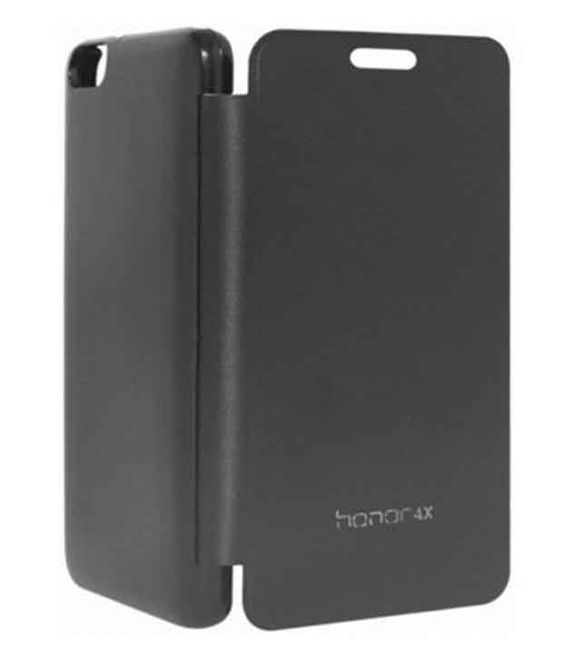 Ajer_on Synthetic Flip Cover For Huawei Honor 4x - Black