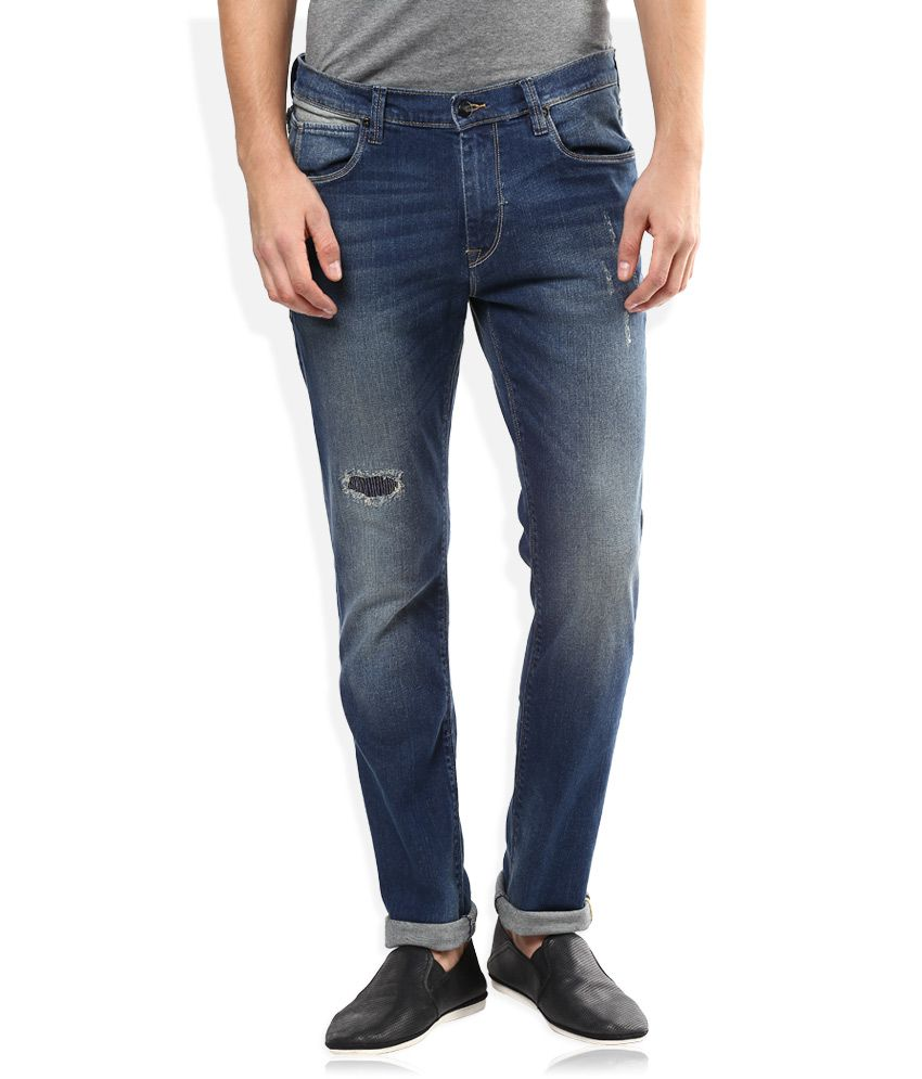 Lee Blue Medium Wash Slim Fit Jeans