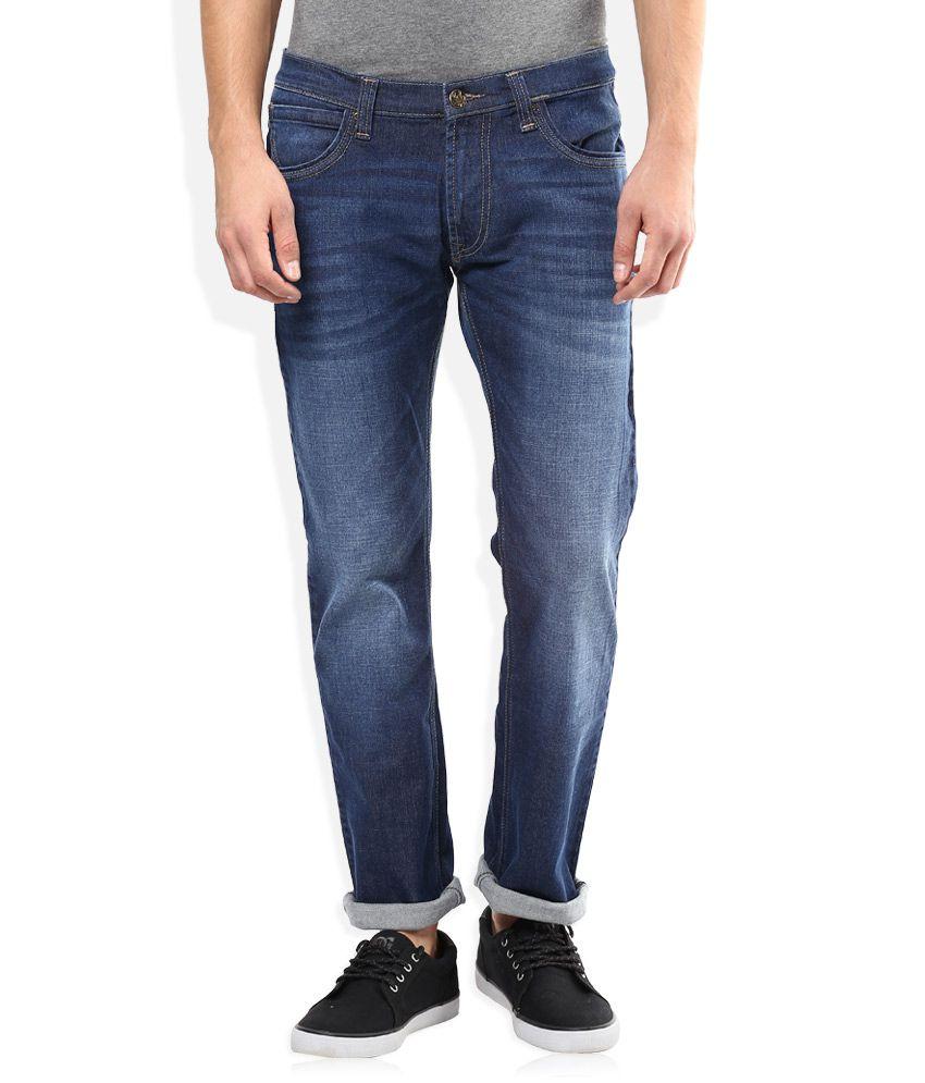 Lee Blue Light Wash Regular Fit Jeans