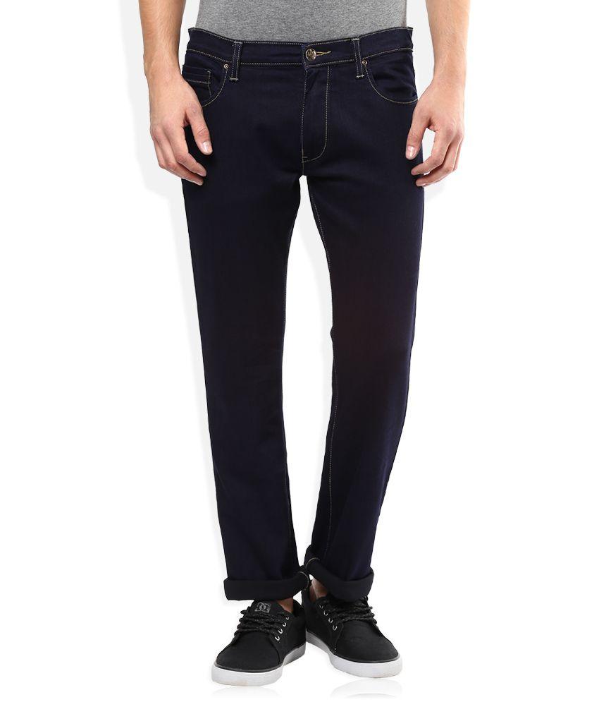 Lee Navy Raw Denim Slim Fit Jeans