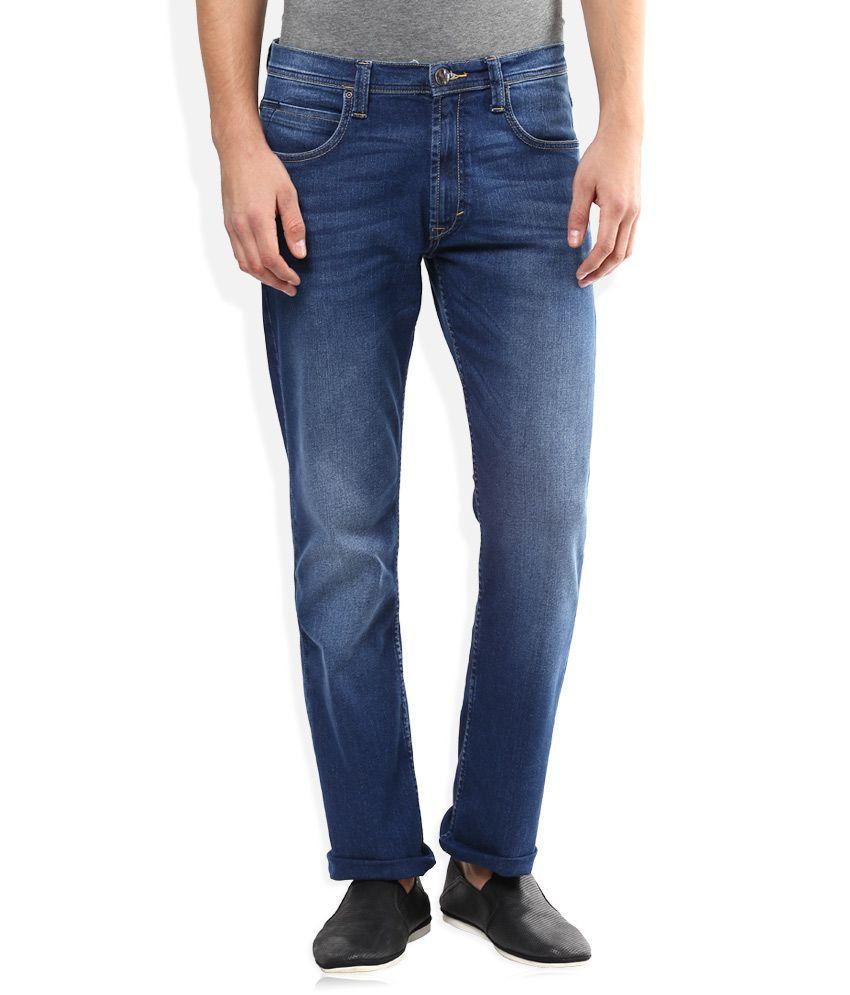 Lee Blue Medium Wash Regular Fit Jeans