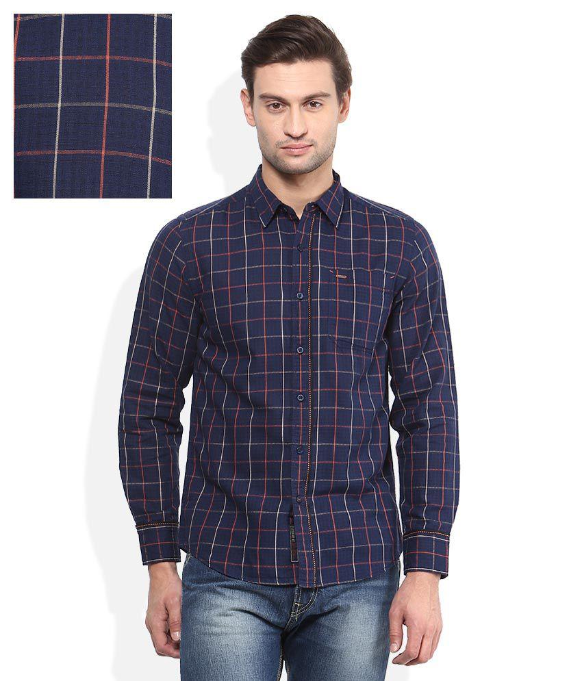 Lee Navy Blue Checkered Shirt Buy Lee Navy Blue Checkered Shirt