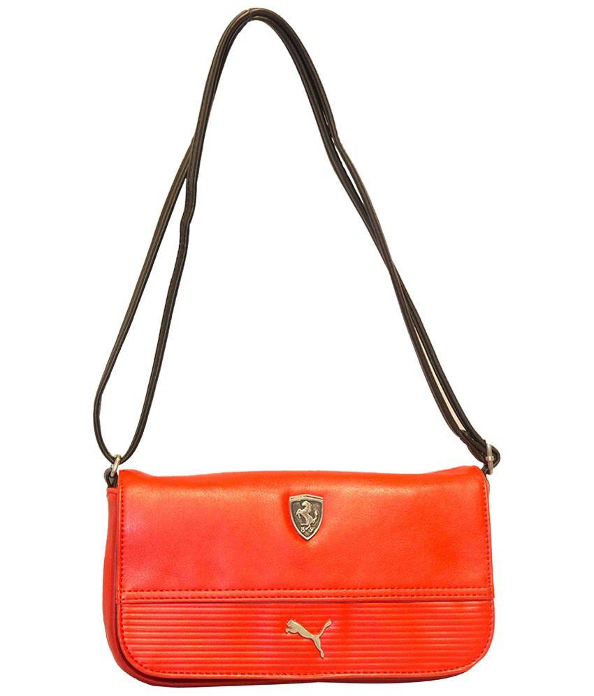 Puma Red   Black Ferrari PU Sling Bag - Buy Puma Red   Black Ferrari PU  Sling Bag Online at Best Prices in India on Snapdeal 92849173943d1