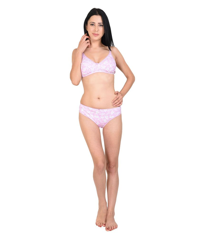 928a9a3e30 Buy Simoni Pink Bra   Panty Sets Online at Best Prices in India - Snapdeal