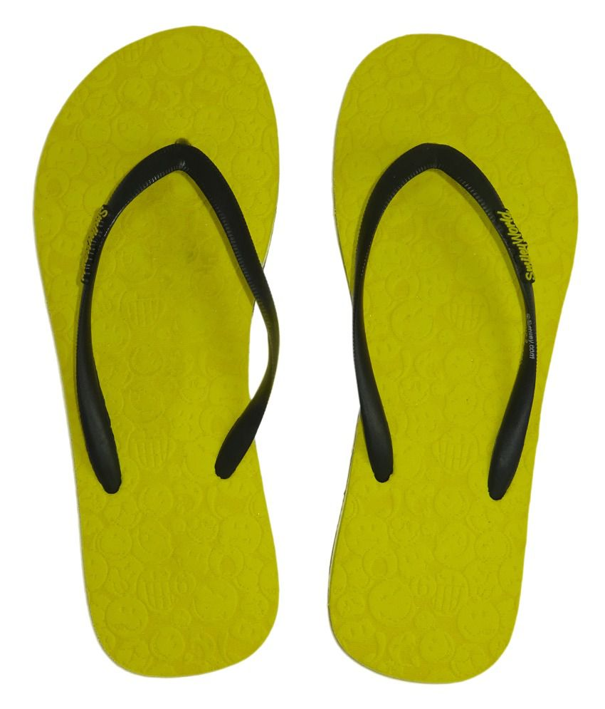 Smiley Yellow Flip Flops