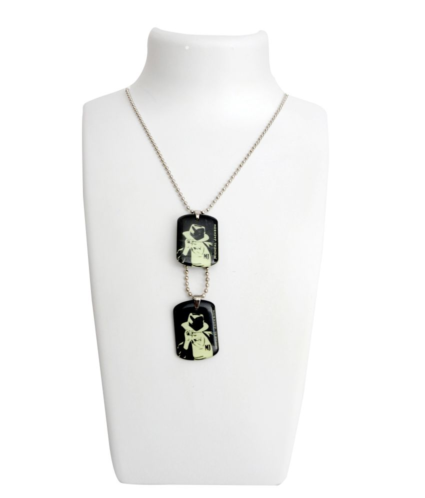 Dev Jewellery Silver Alloy Pendant Chain