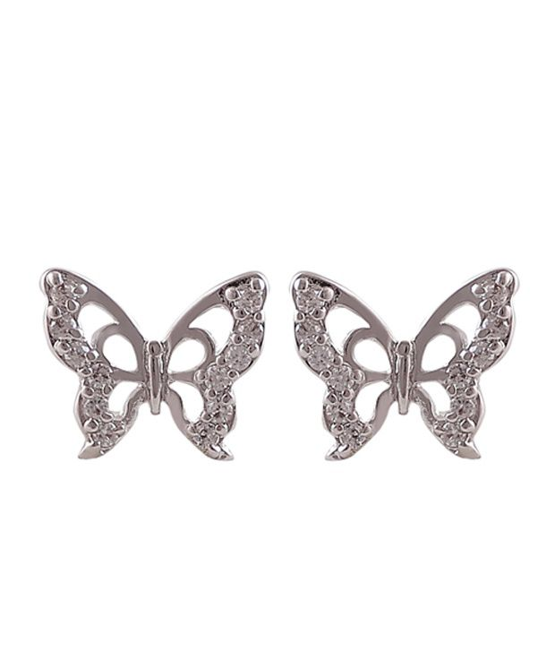 Catchme Silver Alloy Stud Earrings