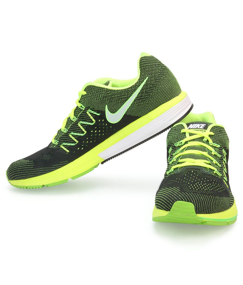 271a6409448a Nike Air Zoom Vomero 10 Green Sports Shoes - Buy Nike Air Zoom ...