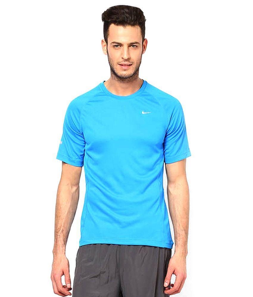 Nike Blue Polyester T-Shirt