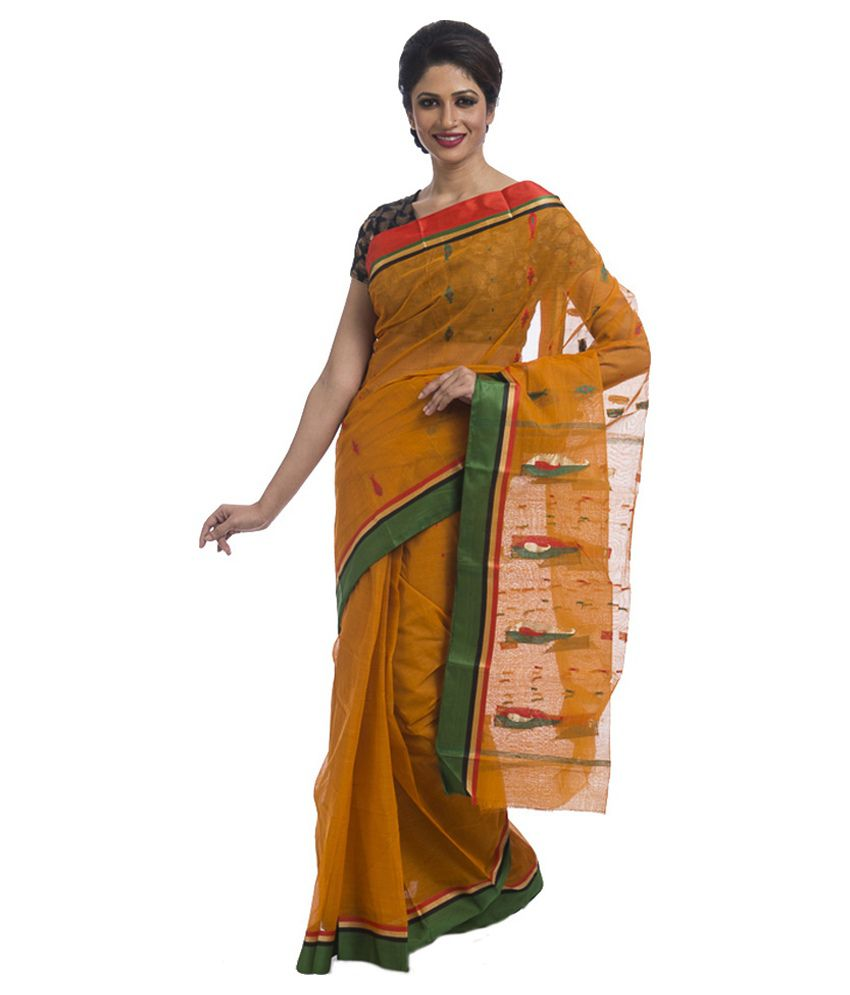 RMGC Basak Yellow Cotton Saree