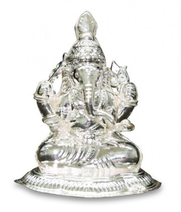 Silverslane Silver Lucky Ganesha Idol