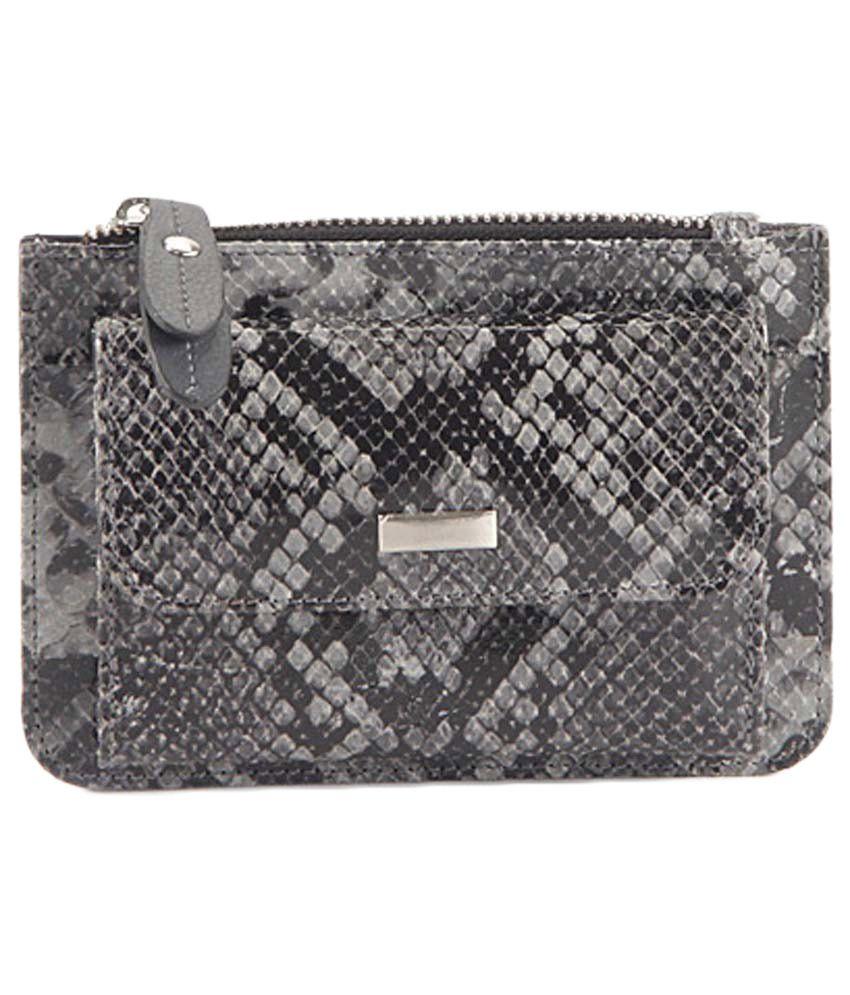 Aartefacto Leather Grey Women Long Wallet