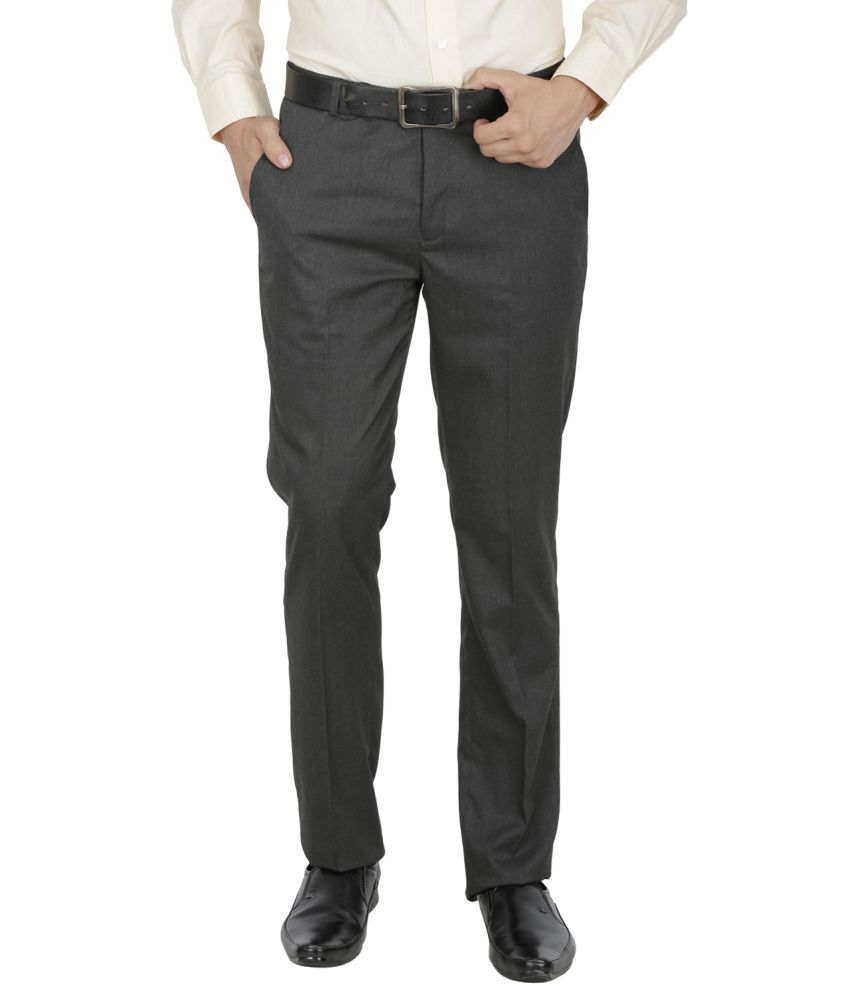 Kingswood Grey Poly Viscose Trousers