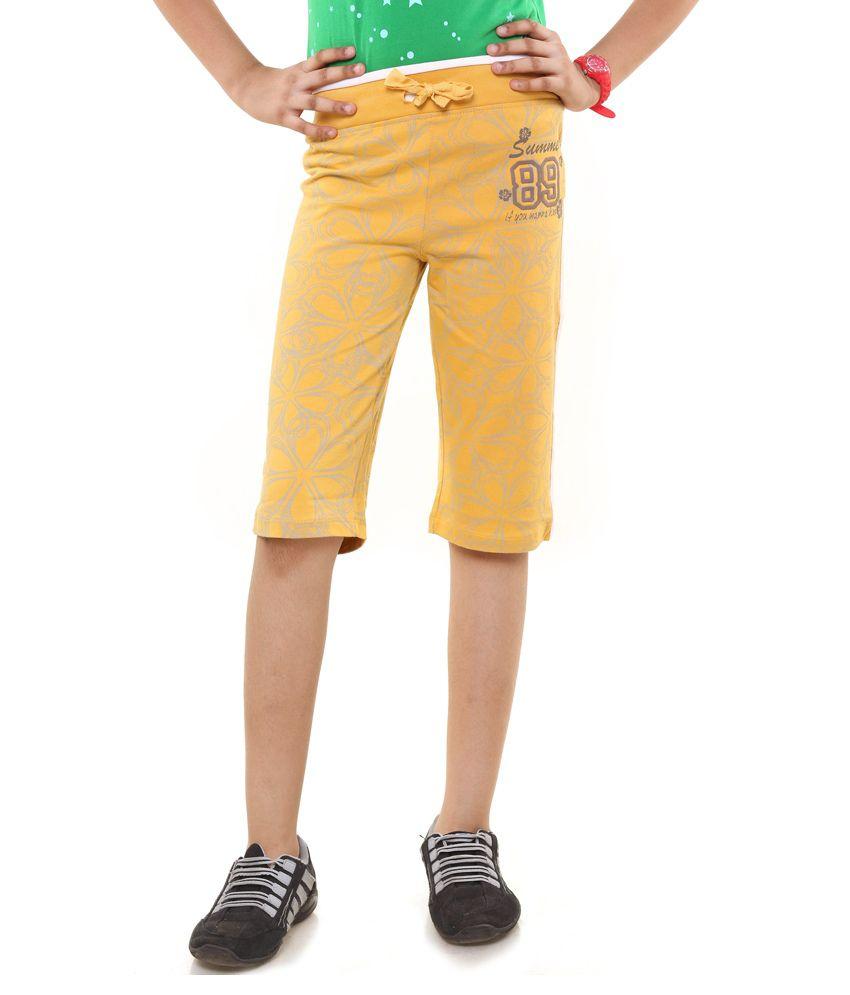 Menthol Yellow Shorts