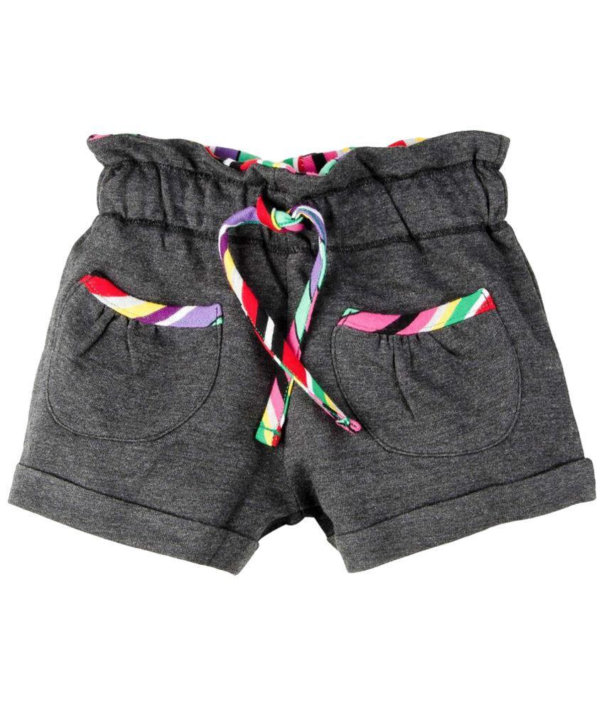 Oye Gray Cotton Shorts
