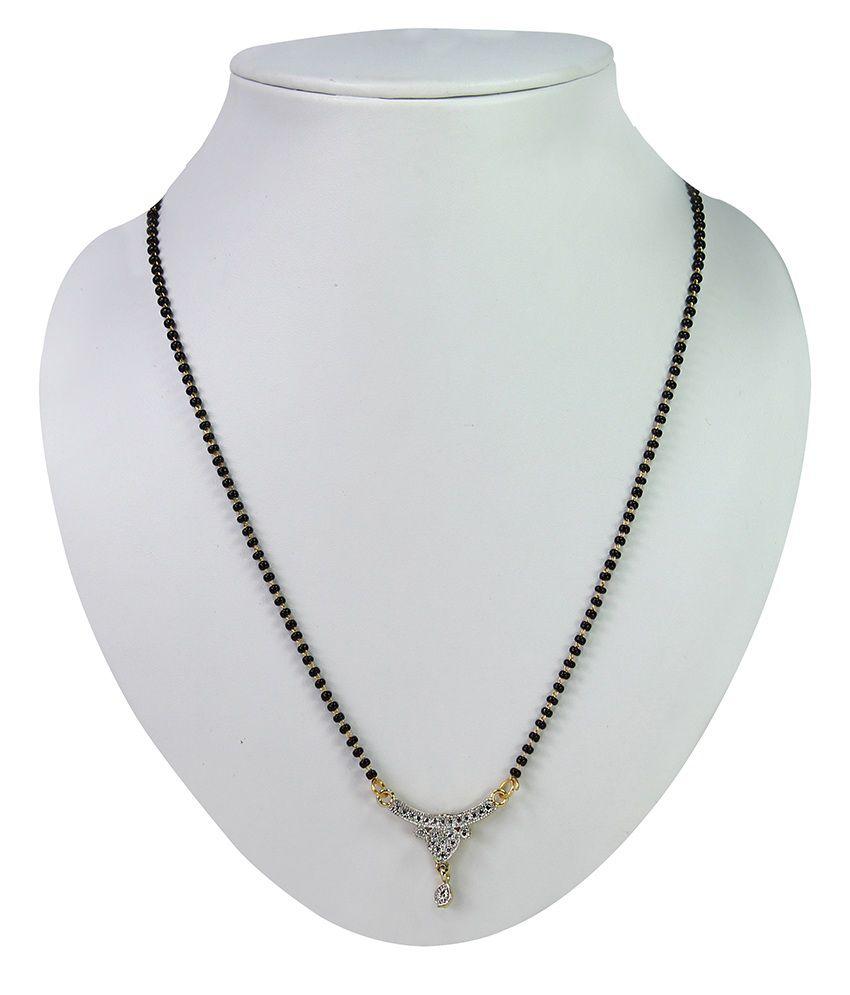 Sarita Golden Brass American diamonds Mangalsutra