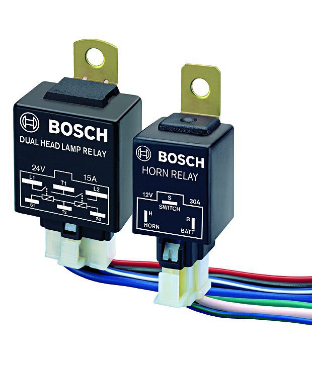 Bosch Dual Head Lamp Relay SDL575807155 1 0f412 bosch dual head lamp relay 12v and wiring harness kit buy bosch horn wiring harness india at soozxer.org