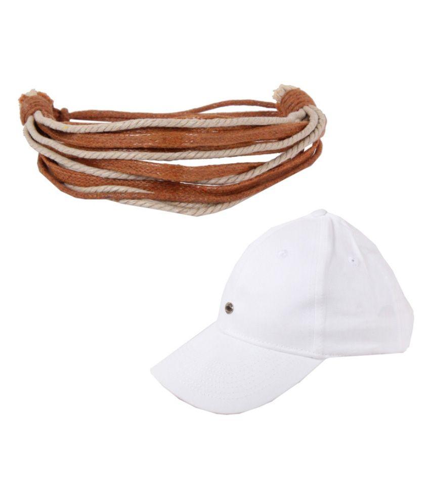 Sushito Bracelet With Cap - White