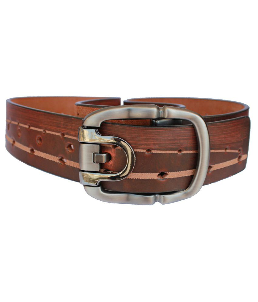 Discover Fashion Brown Leather Casual Belt