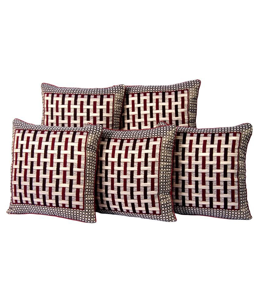 Optimisitic Home Furnishing Multicolour Poly Cotton Cushion Cover - Set of 2