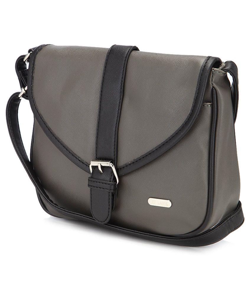 Lavie Punk Gray P.U Small Sling Handbag - Buy Lavie Punk Gray P.U ... 70a9f3bab907b