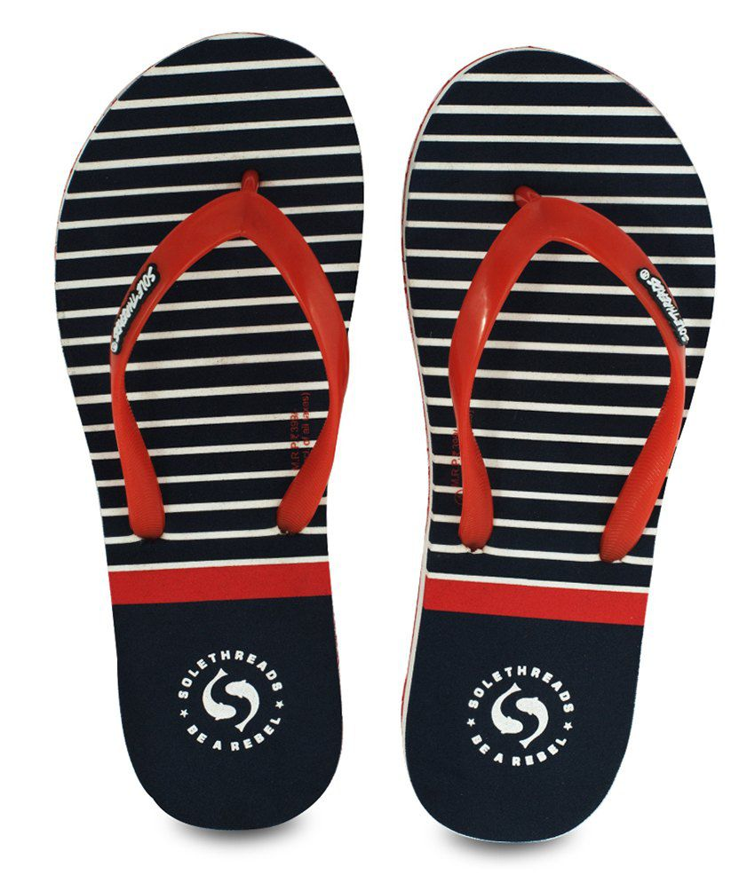 Sole Threads Nautica Navy Flip Flops