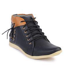 Semana Black Smart Casual Shoes