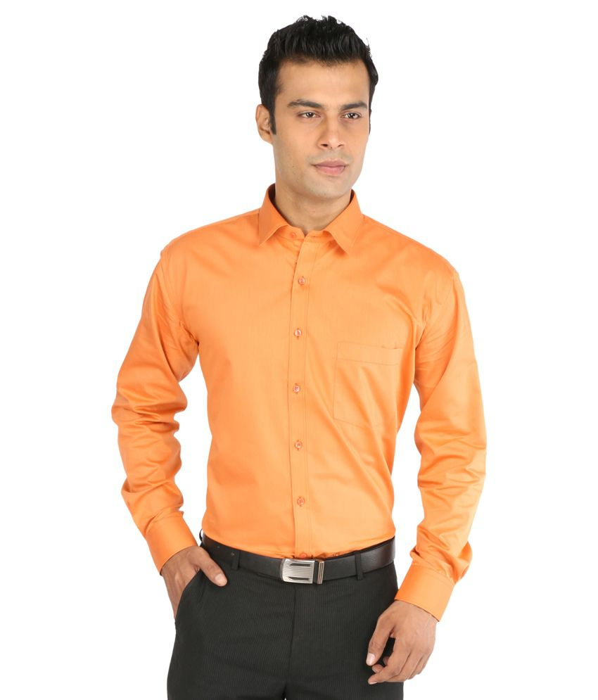 8ee63ff997d Cambridge Orange Formal Shirt - Buy Cambridge Orange Formal Shirt Online at  Best Prices in India on Snapdeal