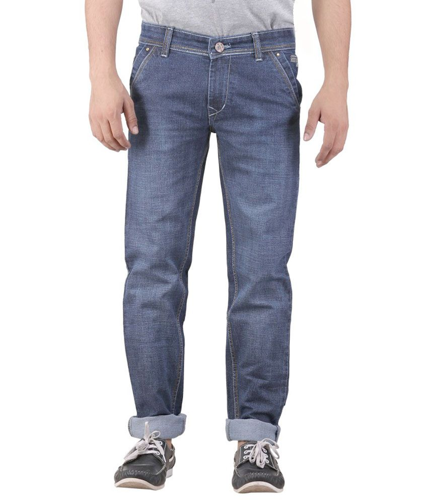 Leo Blue Regular Fit Jeans